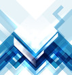 Blue modern geometric abstract background