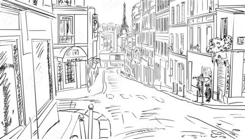 strase-in-paris-skizze-abbildung
