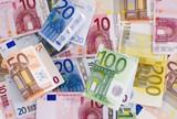 Fototapeta Notatka - Euro - Pieniądze / Banknoty / Karta Kredytowa