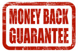 Grunge Stempel rot MONEY BACK GUARANTEE