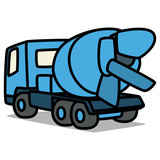 Cartoon Car 42 : Concrete Transport Truck