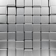 Silver monochrome cubes