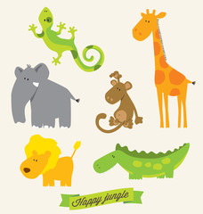 animal jungle set