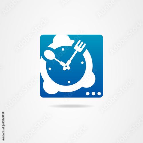 Kitchen clock graphic design