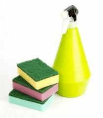 sponge and spray