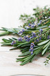 Fresh rosemary, thyme and dried lavender