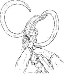 mammoth attaking