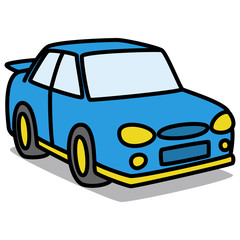 Cartoon Car 45 : Blue Rally Car