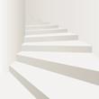 escalier blanc colimaçon