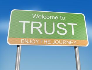 TRUST - road sign