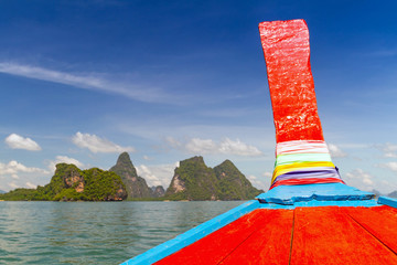Phang Nga Bay trip on long tail boat in Thailand