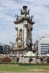 Barcelona. Statue in Plaza Catalunya.