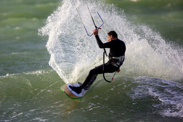 kitesurfeur et kite surf