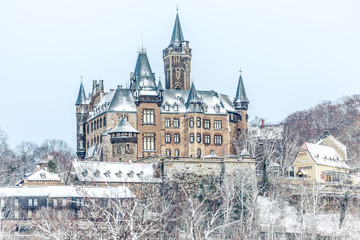Wernigeröder Schloss im Winter
