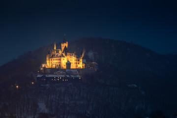 nächtliches Winterschloss, Wernigerode