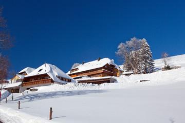 Winter, Schnee, Frost, Haus, Hotel, Skilift, Winterurlaub, Dorf