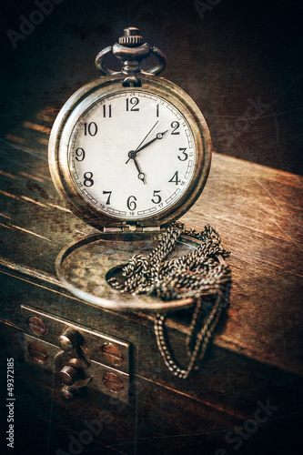 Vintage pocket watch on a chain