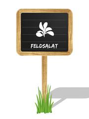 Feldsalat Schildchen Vektor