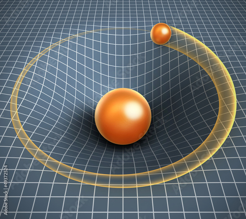 gravity 3d illustration