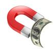 money magnet 3d concept