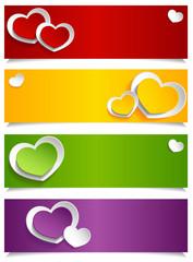 Colorful heart menu
