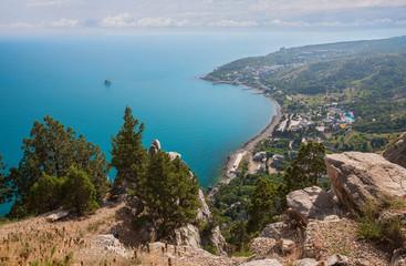 Blue bay near Simeiz town in Crimea
