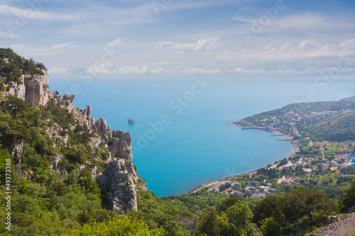 Blue bay near Simeiz town in Crimea