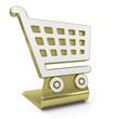 """Shopping Cart"" Golden Icon"