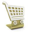 """""""Shopping Cart"""" Golden Icon"""
