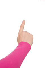 Hand mit gestreckten Zeigefinger