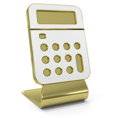 """Calculator"" Golden Icon"