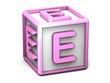 E Letter Cube