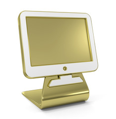"""Monitor"" Golden Icon"