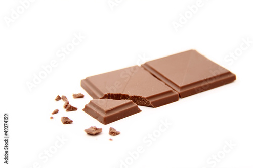 Schokolade und Schokoladenkrümel