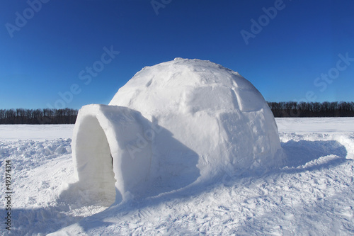 canvas print picture Igloo