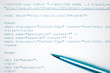 Concept html web design print and pen. Blue toned