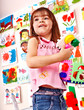 Child play block in play room.