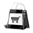smartphone shopping bag icon