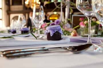 Hochzeit Tischdeko Tisch Dekoration Gastgeschenk