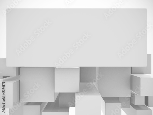 3d white abstract background