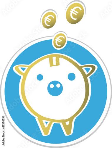 Sparschwein mit euro Münzen - Geld sparen