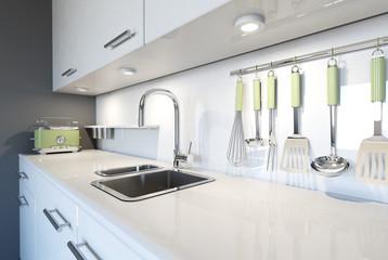 interior design kitchen in 3d