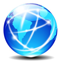 South Latin America and Africa Global Communication Planet