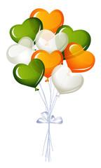 Heart balloons in irish colors