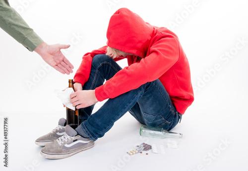 Teenager mit Suchtproblem