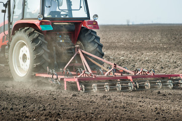 preparing land for sowing