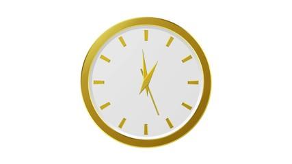 Horloge or - 12 heures