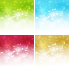 Set of Abstract light background