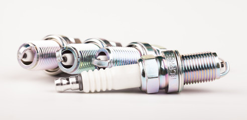 spark plugs isolated on white