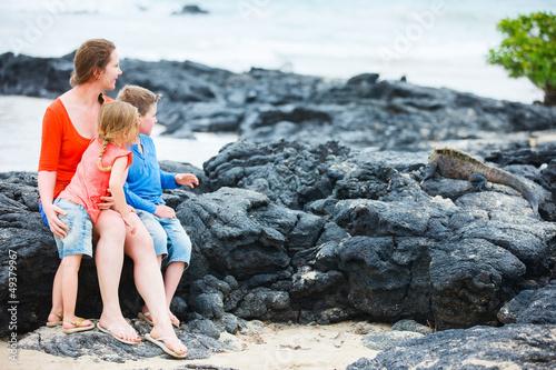 Family at Galapagos